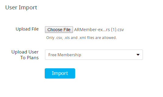ARMember General Settings ( Import / Export )