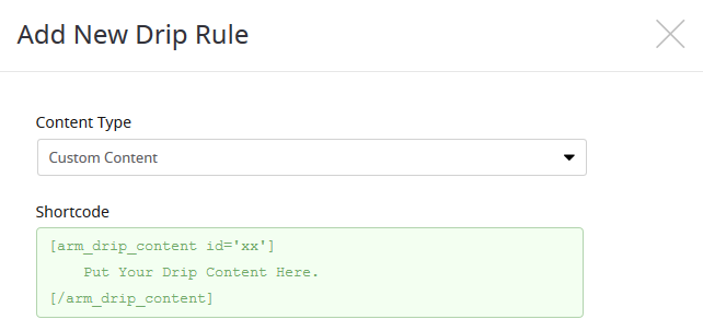 ARMember_custom_drip_rule