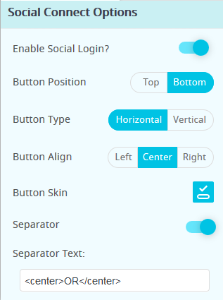 ARMember Forms Social Icon Settings ( Social Login )