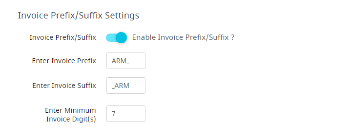 ARMember - Invoice Prefix/Suffix Settings