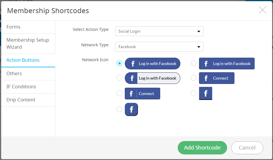 ARMember Social Login Shortcode