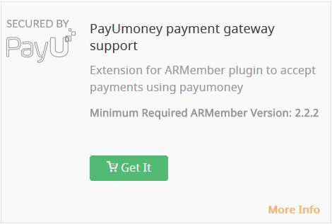 PayUmoney Payment Gateway - Wordpress Membership Plugin - ARMember